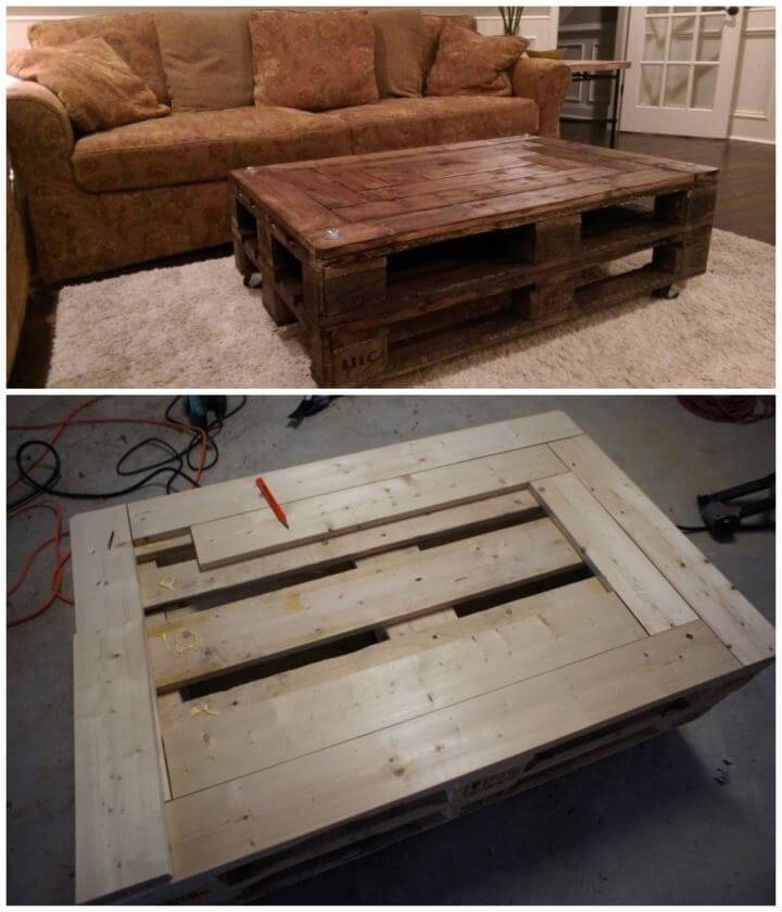 Build a Pallet Coffee Table 1