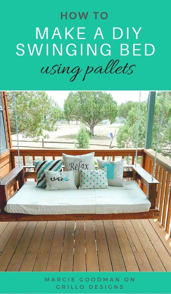 Build a Pallet Swing Bed for Your Patio