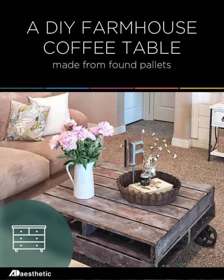 Build a Rustic Farmhouse Pallet Coffee Table