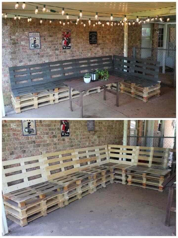 Build an Outdoor Patio Furniture from Pallets