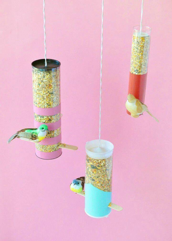 Colorblock Bird Feeders Made From Plastic Bottles