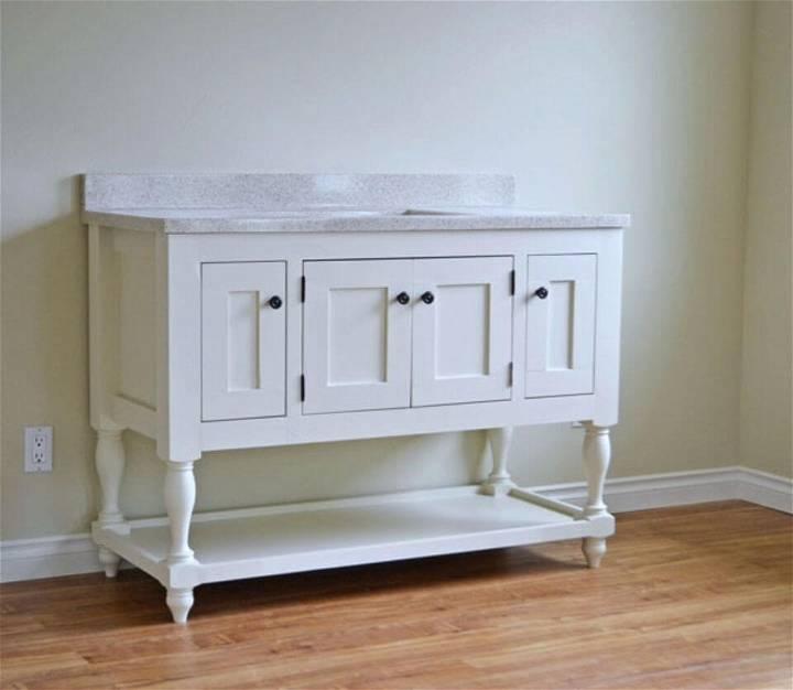 DIY 48 Turned Leg Bathroom Vanity