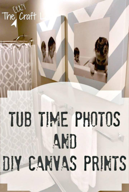 DIY Bath Time Photos and Canvas Prints