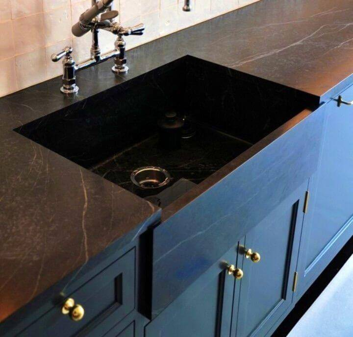 DIY Black Concrete Countertops