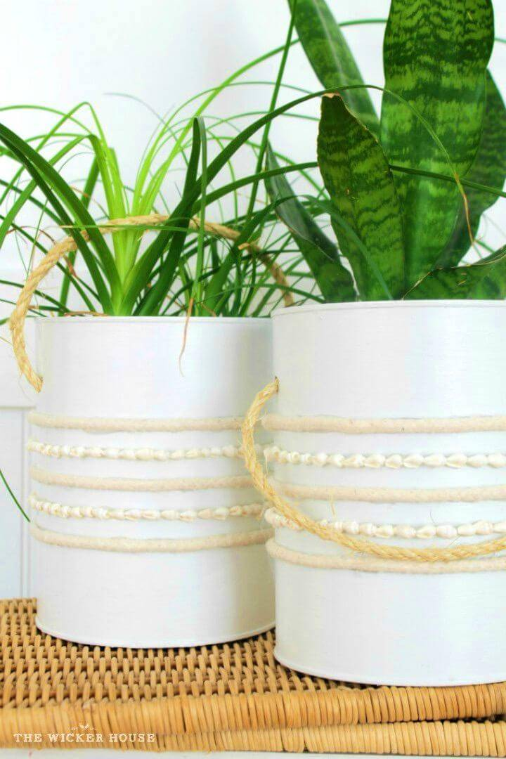 DIY Coffee Can Into a Planter Bucket
