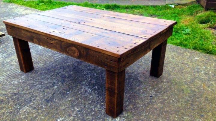 DIY Coffee Table From Reclaimed Pallet Wood