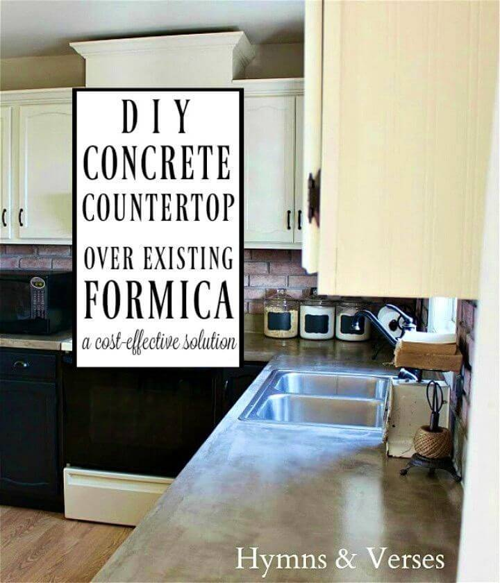 DIY Concrete Countertop Over Existing Formica