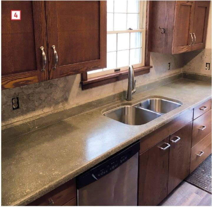DIY Concrete Countertops That Look Like Stone