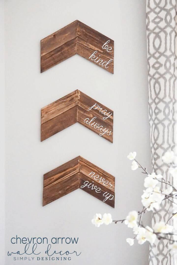 DIY Customizable Chevron Arrow Wall Decor
