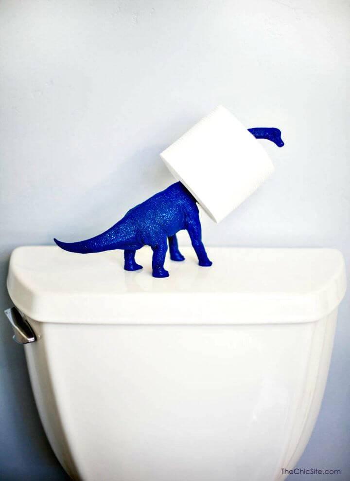 DIY Dinosaur Toilet Paper Holder