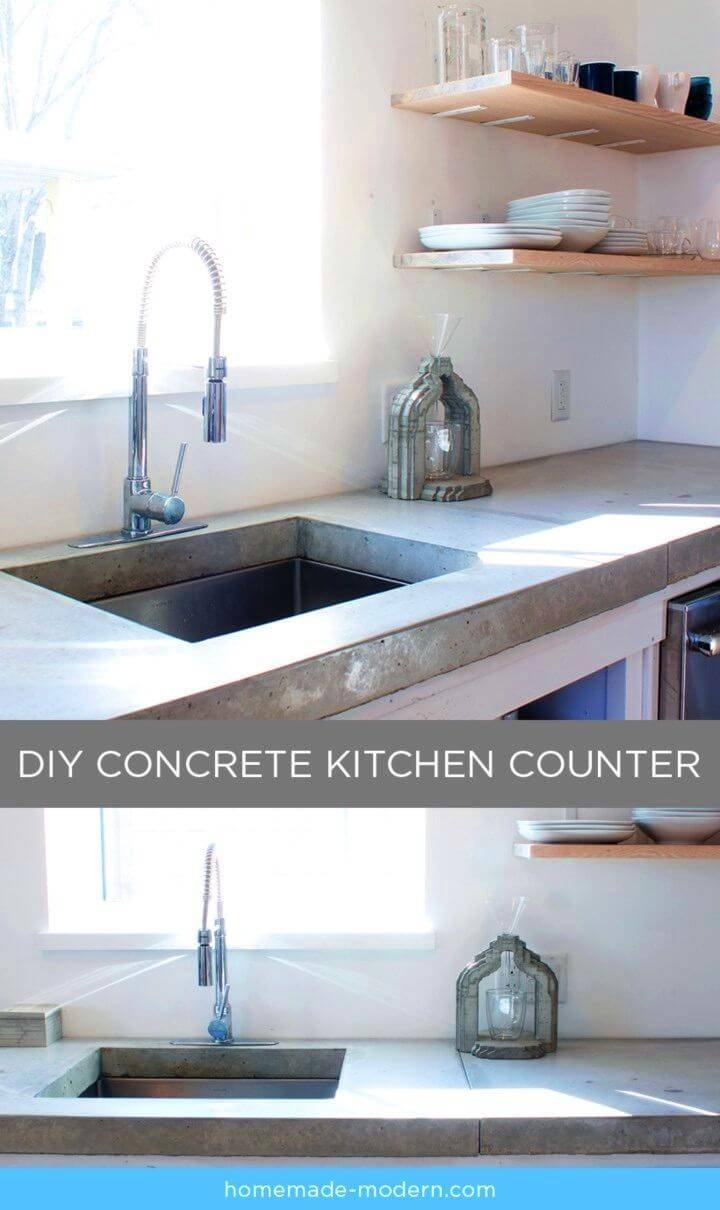 DIY EP87 Concrete Kitchen Countertops