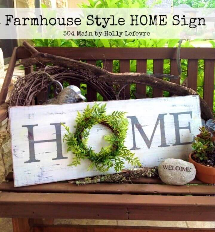 DIY Farmhouse Style Inspired Pallet Home Sign