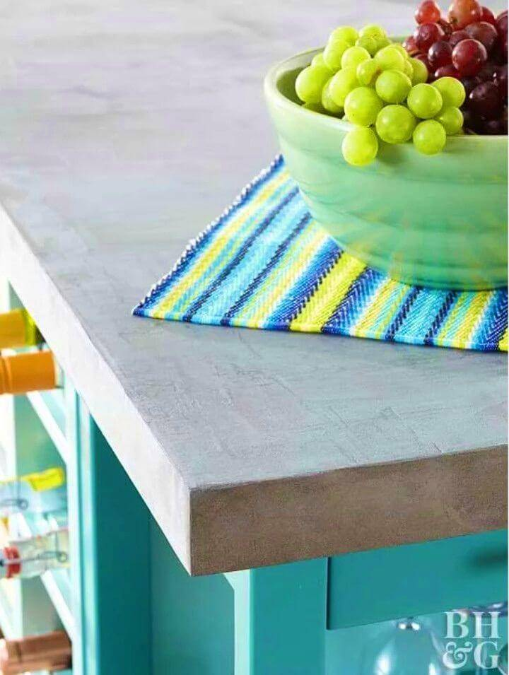 DIY Faux Concrete Countertop