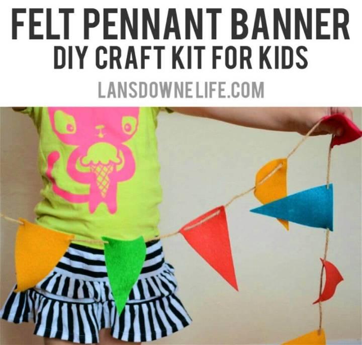 DIY Felt Banner Kit Under 2