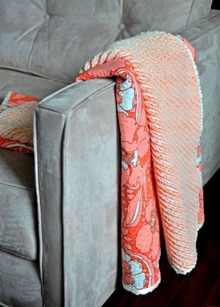 DIY Heirloom Cut Chenille Baby Blanket