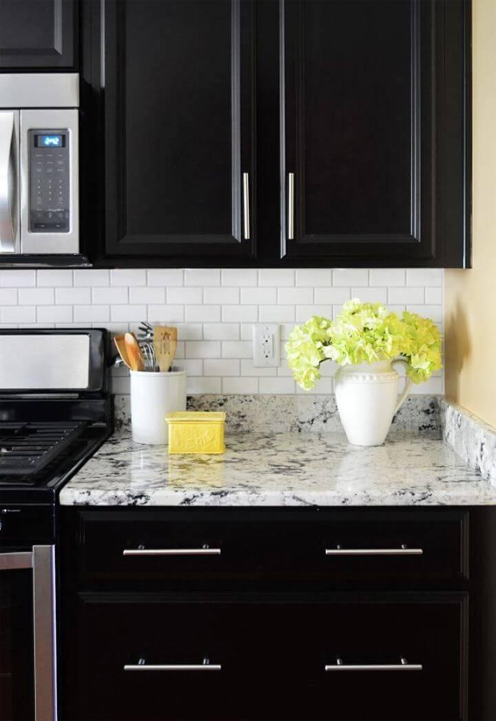 DIY Installing a Subway Tile Kitchen Backsplash for 200