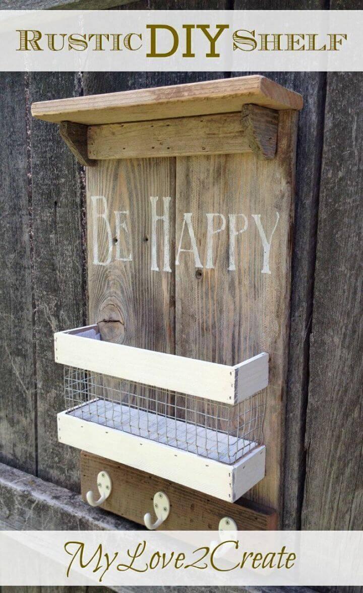 DIY Joanna Gaines Inspired Rustic Shelf