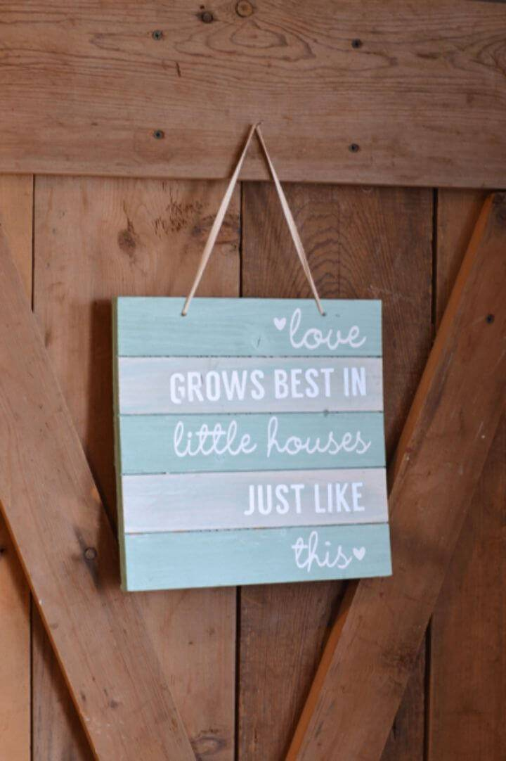 DIY Love Grows Pallet Sign