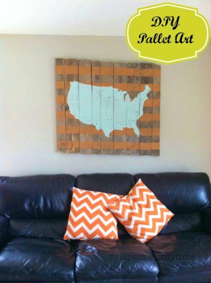 DIY Map Of The USA Pallet Art Sign