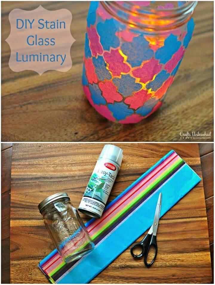 DIY Mason Jar Luminary