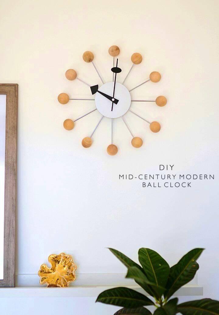 DIY Mid Century Modern Ball Clock