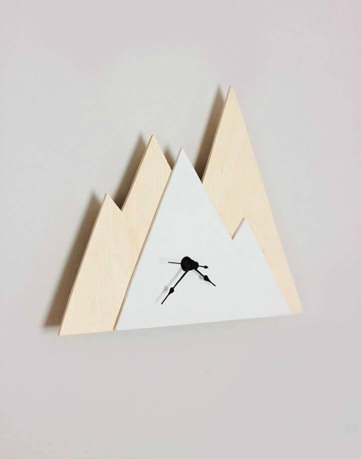 DIY Mountain Shaped Clock