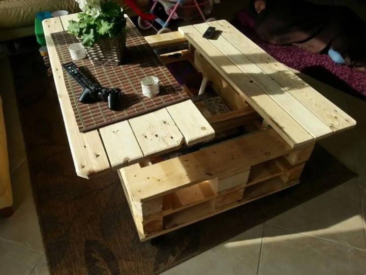 DIY Multi function Coffee Table With Storage
