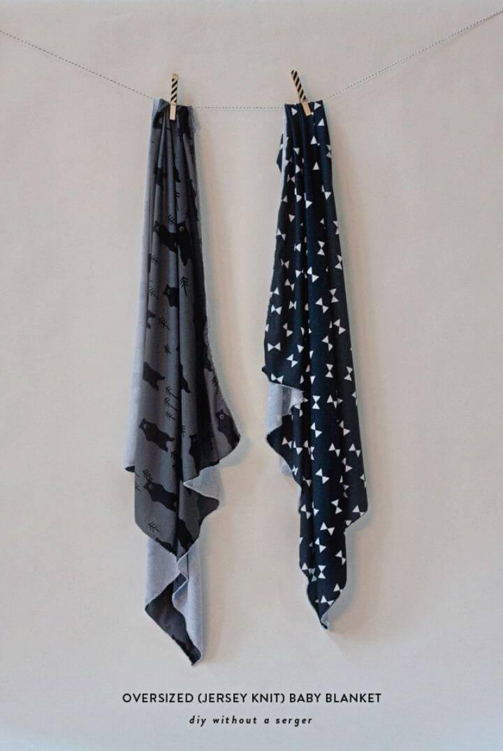 DIY No Sew Oversized Baby Blanket