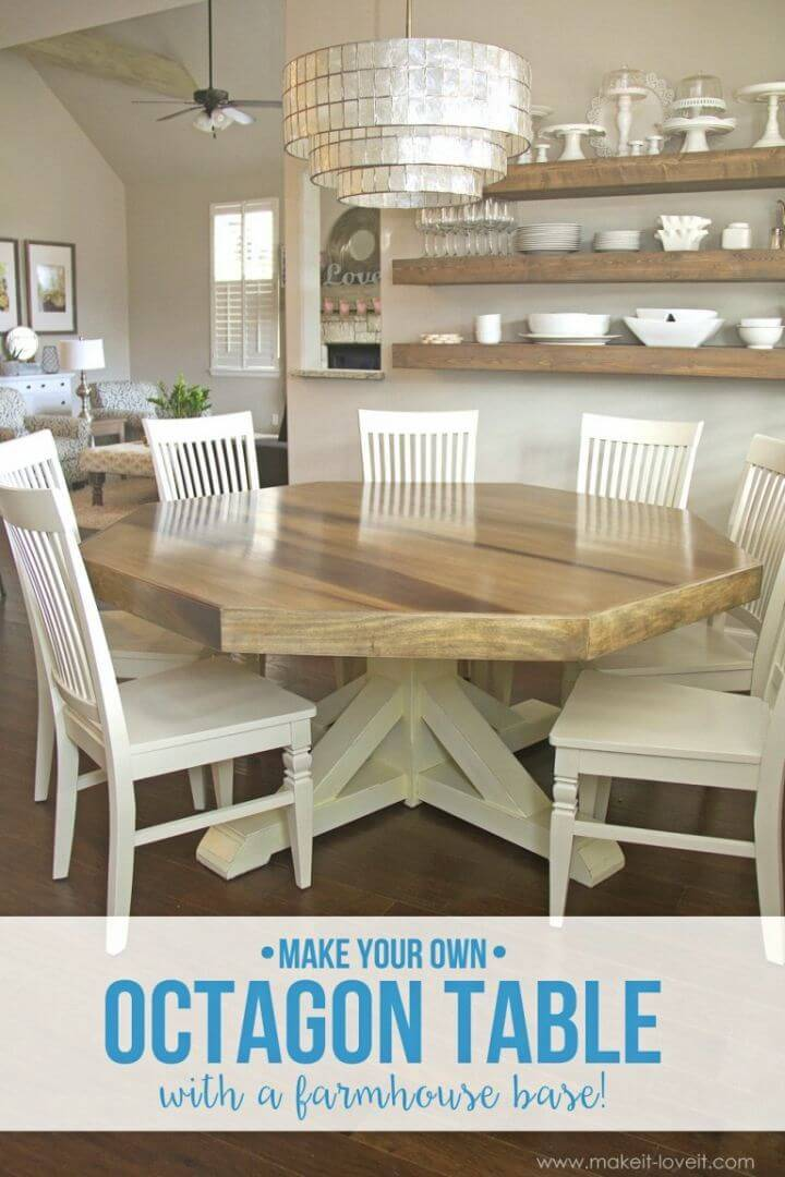 DIY Octagon Dining Room Table