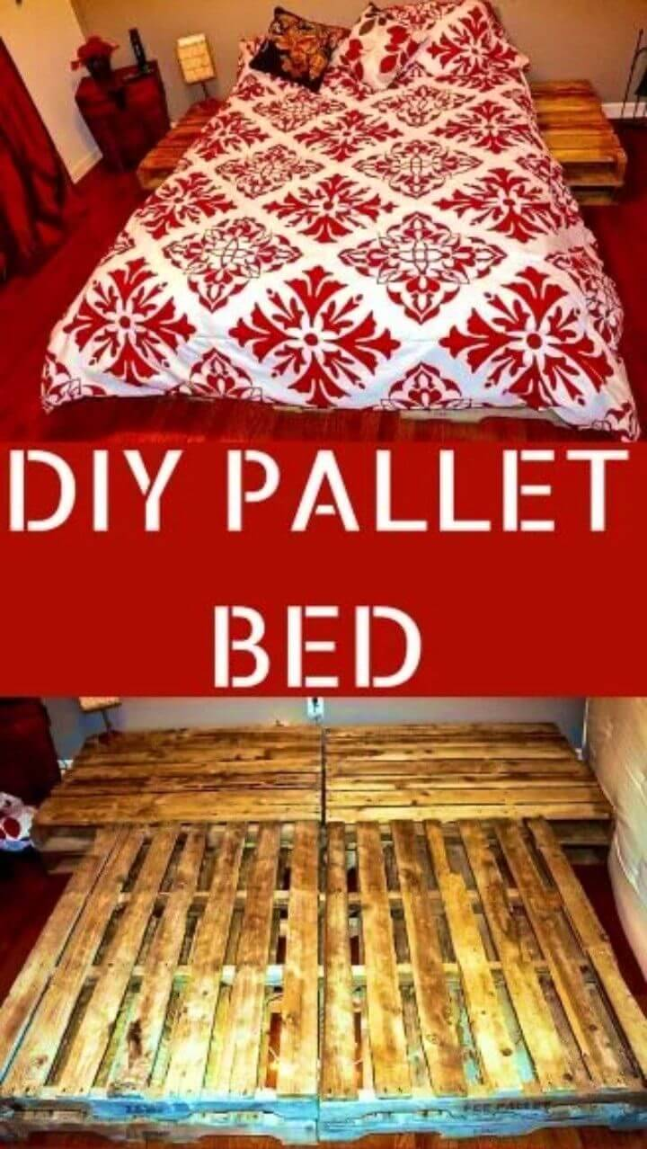 DIY Pallet Bed – Attached Night Stands