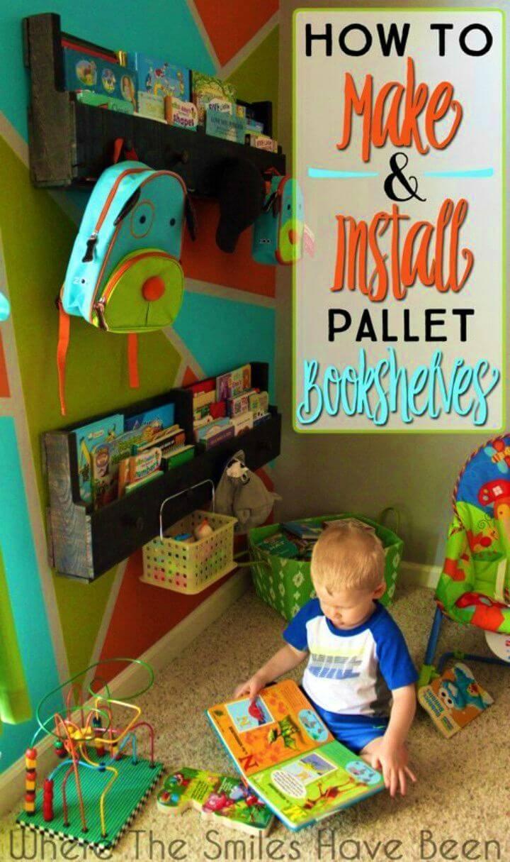 DIY Pallet Bookshelves for Your Kids