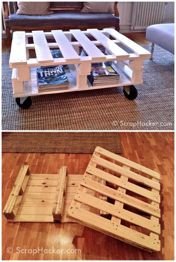 DIY Pallet Coffee Table in 7 Steps