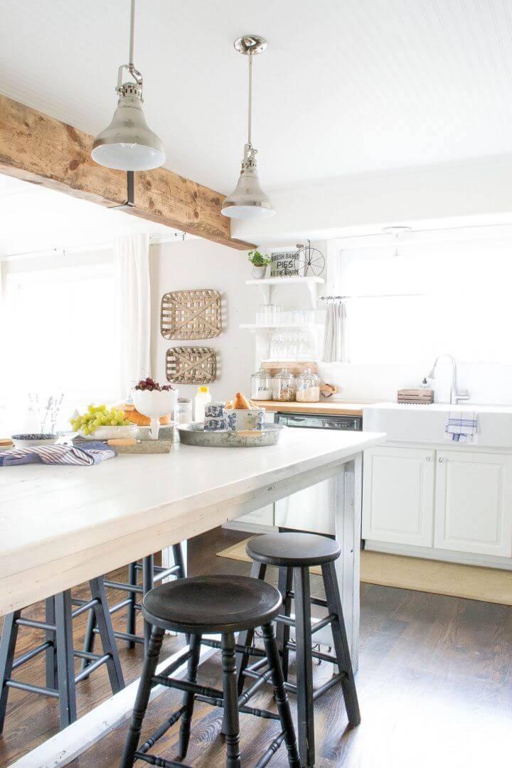 DIY Reclaimed Wood Beam