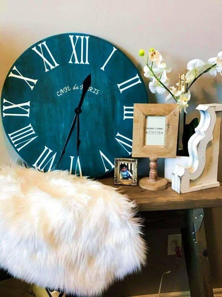 DIY Roman Numeral Clock Tutorial