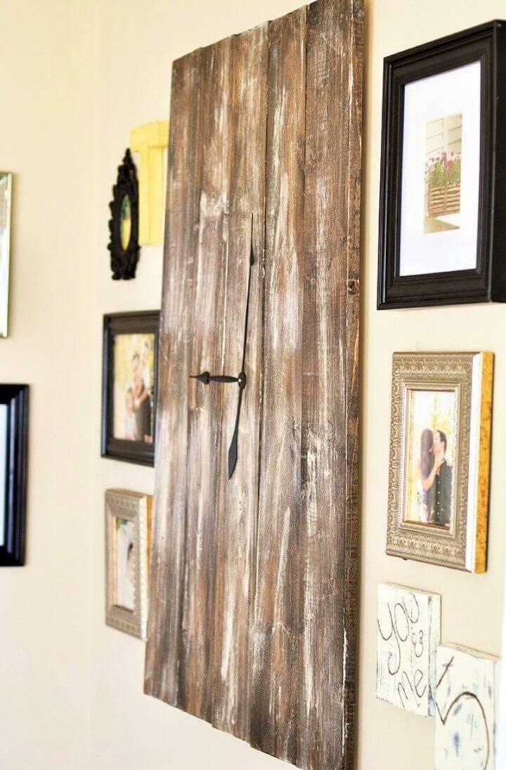 DIY Rustic Wooden Clock Tutorial 1