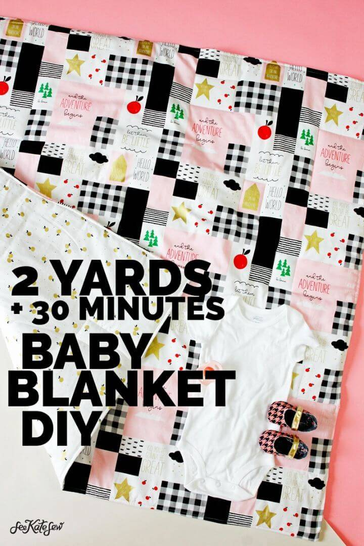 DIY Sew a Baby Blanket With 2 Yards of Fabric