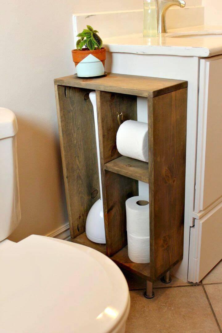 DIY Side Vanity Storage Unit 1