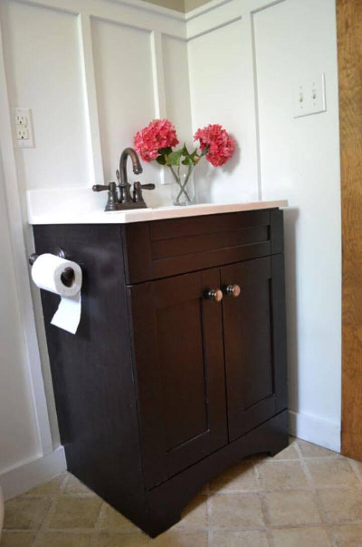 DIY Small Bath Vanity With Storage