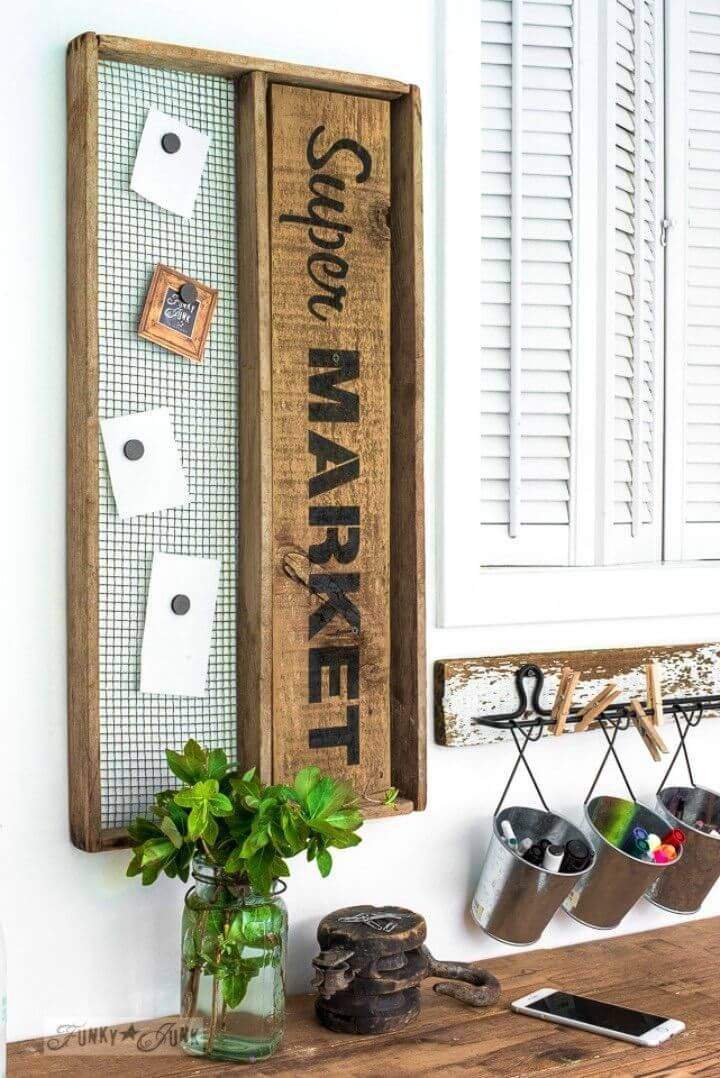 DIY Super Market Soil Sifter Magnetic Board Sign