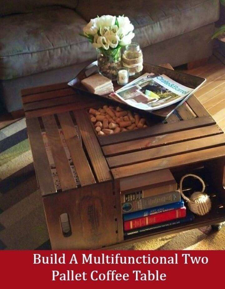 DIY Two Pallet Coffee Table