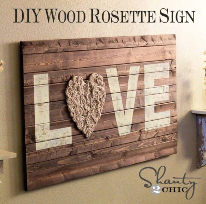 DIY Wall Art Love Sign