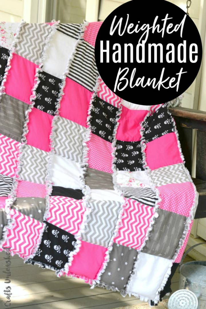 DIY Weighted Blanket Rag Quilt