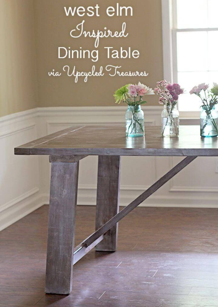 DIY West Elm Inspired Dining Table