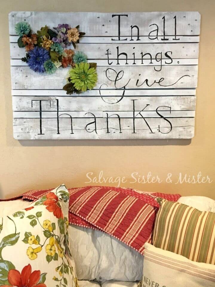 Easiest DIY Pallet Sign for Home Decor