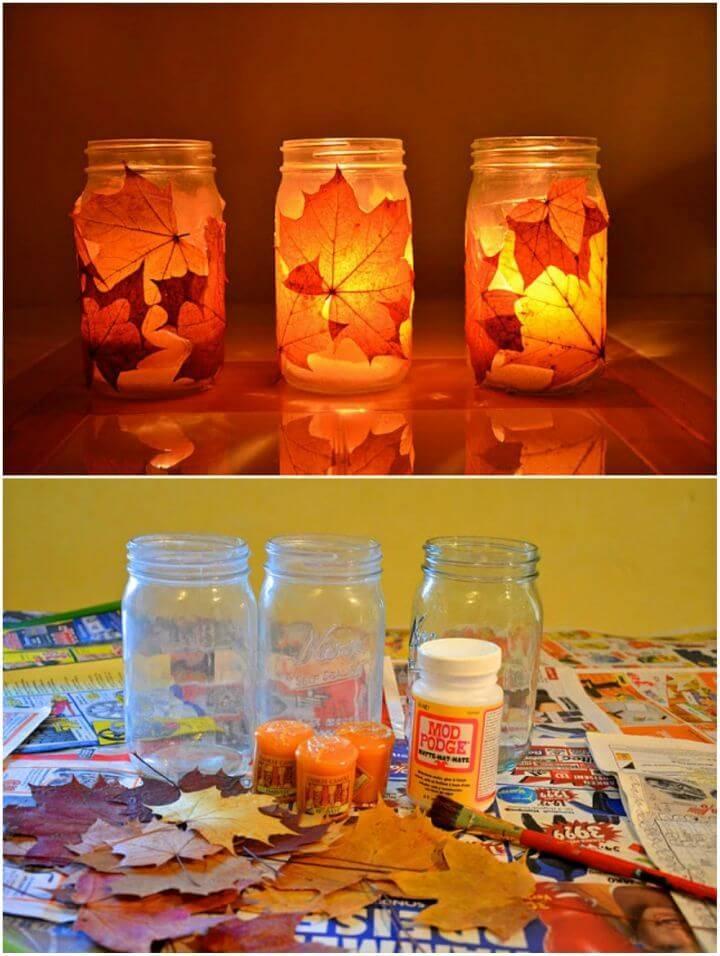 Easy DIY Autumn Lanterns