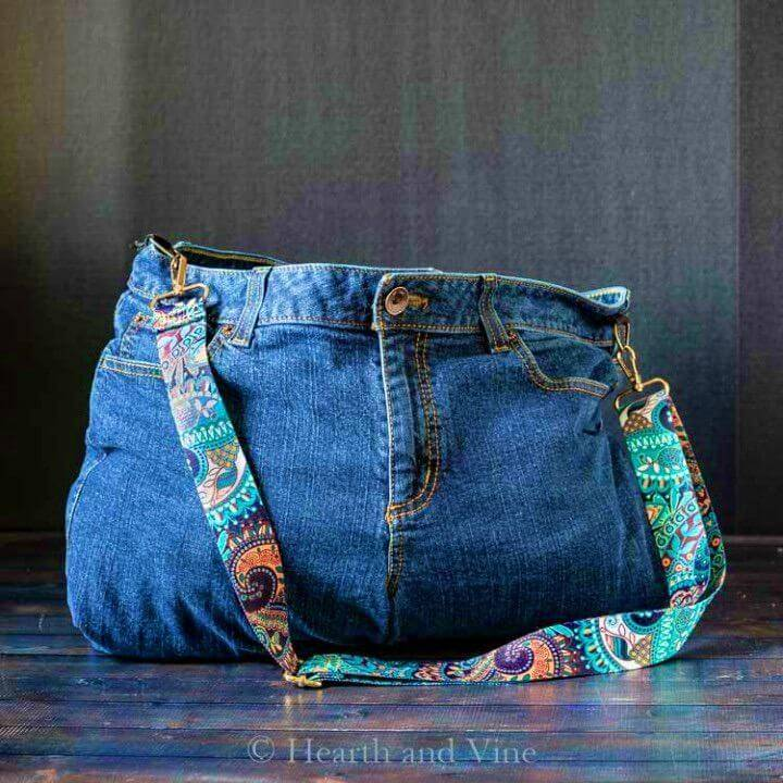 Easy DIY Bag from Old Jeans