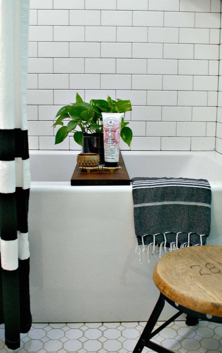Easy DIY Bathtub Tray