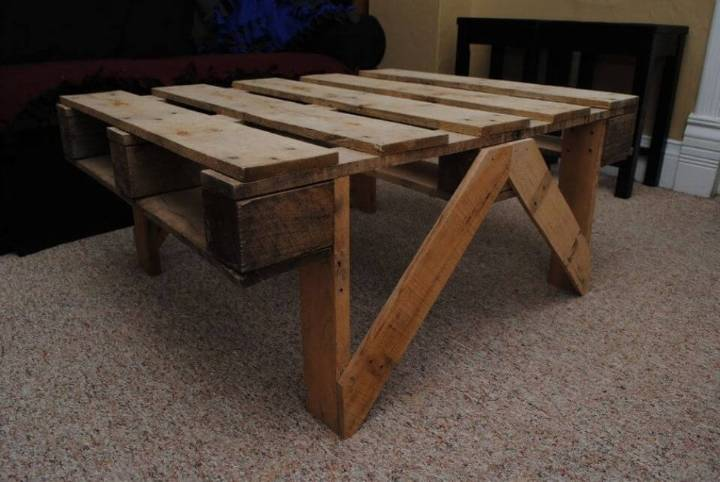 Easy DIY Pallet Coffee Table 1