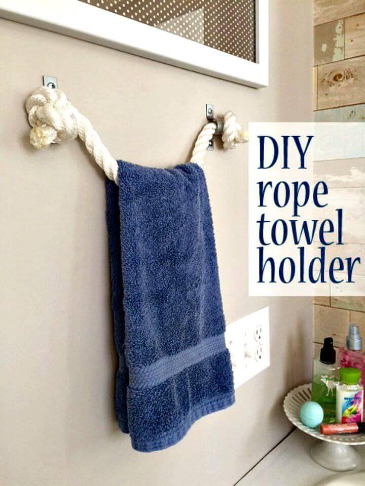 Easy DIY Rope Towel Holder