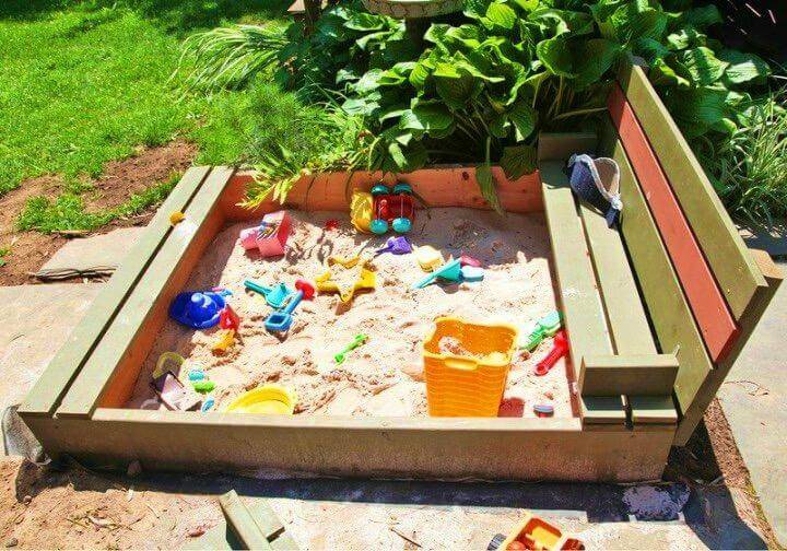 Easy DIY Sandbox with Cover